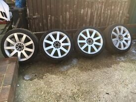 """Vw / Audi 18"""" alloys good tyres"""