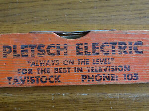 VINTAGE LEVEL - PLETSCH ELECTRIC TAVISTOCK, PHONE NO. 105