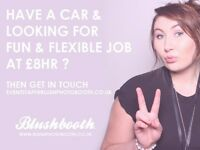 EVENT ATTENDANTS NEEDED, Great pay and fun job! Blushbooth