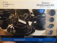 24 piece dinnerware set