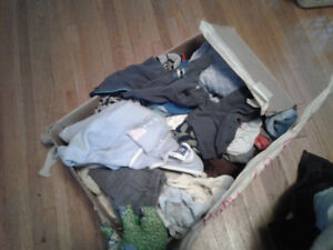 Large lot of baby boys clothes age 0-3 months