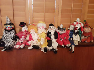 Clown doll collection