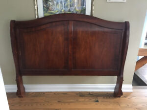 Solid wood sleigh bed - original cost 3000 - asking 500