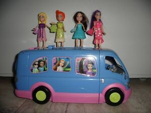 Disco bus Polly Pocket et 4 poupées Polly