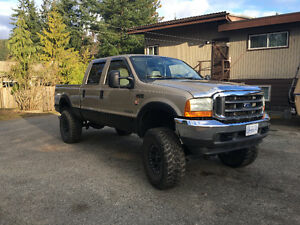 F350 Lariat Super Duty 7.3 Diesel 2001 Lifted 4x4 Short Box