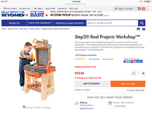 kids step 2 real projects work bench and extra tools