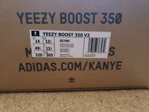 Yeezy boost 350 clay deadstock size 14