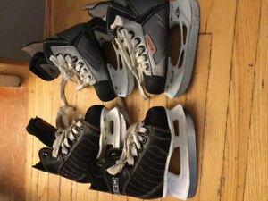 Size 8 eastons size 9 ccm