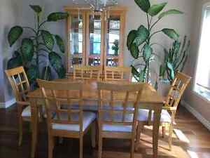 Dinning table and hutch with (6) chairs (O.B.O.)
