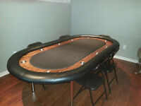 Poker Table - hand-crafted deluxe regulation size