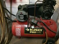 Husky air compressor works great hose included can drop off