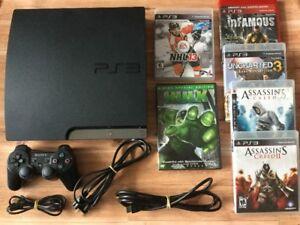 Console PS3 de 160gig + jeux + DVD Hulk - 125$