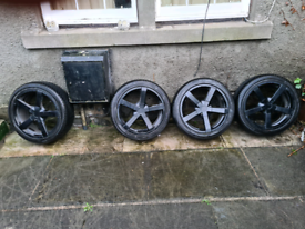Fox 17 alloys fully refurbished new low profile tyres