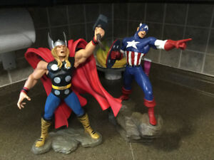 CAPTAIN AMERICA AND THOR STATUES BY HARD HERO