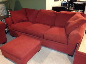 Sofa, Chair, Ottoman Set