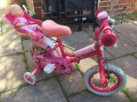 Girls Sweetie bike with stabilisers
