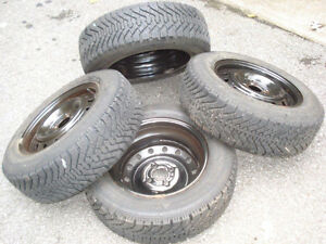 P185/65R14 Goodyear Nordic winter tires and rims