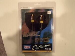 AMX Optimum AVC-52 S-VHS to S-VHS Gold Plated Connector - New Sarnia Sarnia Area image 1