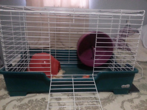 Large animal cage with accessories