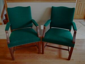 Pair of Green Armchairs