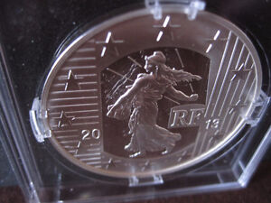 "Rare 2013 France 10 Euro Silver Proof Coin--""The Sower"""
