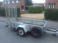 Heavy duty trailer + strong ramp (new tyres)