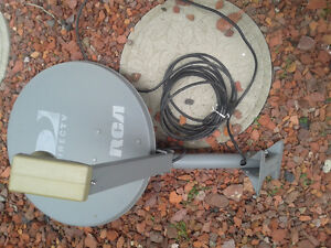 Direct TV Satellite dish with LNB and Cable