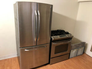 COMPLETE GE PROFILE STAINLESS STEEL KITCHEN APPLIANCES SET
