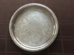 Wm A Rogers Silver Plated Tray