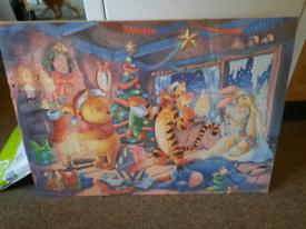 Winnie the pooh jigsaw in a frame