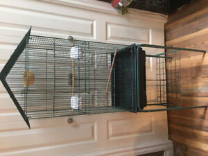 Large green birdcage in excellent condition.