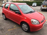2002 Toyota Yaris Gls 1Ltr, Low Running Costs, Mot Until March 2017, Warranty,Ideal Cheap Run Around