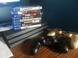 Ps4 pro / 8 games / 2 controllers