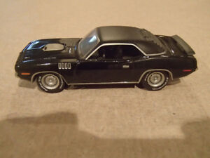 1:64 SCALE DIE-CAST GREENLIGHT 1971 PLYMOUTH HEMI CUDA X-9 BLACK