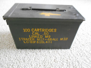 Collectible, Tool Storage,  former Ammunition Box, cal .50 M9