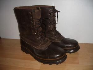 """"" SOREL """" winter rubber / leather boots -- size 14.5 US men"