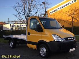 2010/ 60 Iveco Daily 35S13 Mwb 12ft Alloy Flatbed / Pickup RWD