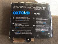 Oxford Big Black Bike Paddock Stand Rear