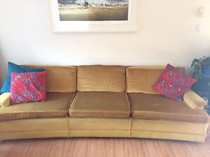 Retro Low Profile Gold Couch