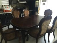 Solid wood dining set (just like new)