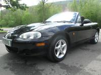 01/51 MAZDA MX-5 1.8I CONVERTIBLE IN MET BLACK WITH SERVICE HISTORY
