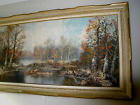 Austrian artist Forster pallette knife oil painting