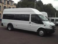 FORD TRANSIT 17 SEAT HIGH ROOF MINIBUS 6 SPEED 135PS EU COC COIF PSV TACHOGRAPH