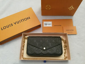 61f02c5fb0 NEW AUTHENTIC LOUIS VUITTON POCHETTE FÉLICIE NOIR FOR SALE