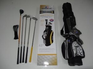 Ensemble de golf 63po  U.S. KIDS; sac autoportant pour junior