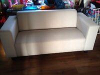 Brand new sofa in cream .