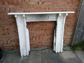 Victorian solid oak fireplace