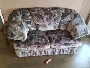 Sofa love seat and chair free