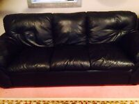 MOVING SALE: BLACK LEATHER COUCHES