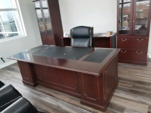 Executive office desk set..new 12k for whole set in pics ..